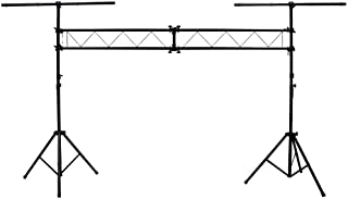 ASC Pro Audio Mobile DJ Light Stand 10 Foot Length Portable Truss Lighting System with T-Bar