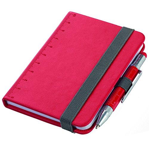 Troika Notizblock DIN A7 inkl. Kugelschreiber, Elastikband-Verschluss, Stiftschlaufe, FSC zertifiziertes Papier, perforierte Seiten, Punktraster, Fach für Belege