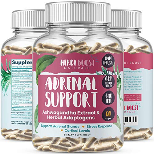 Adrenal Support Supplements & Cortisol Manager [1300mg] 100% Pure Anxiety, Stress Relief Energy Pills for Adrenal & Thyroid Health, Metabolism, Focus & Immune Boost with Ashwagandha & Adaptogens