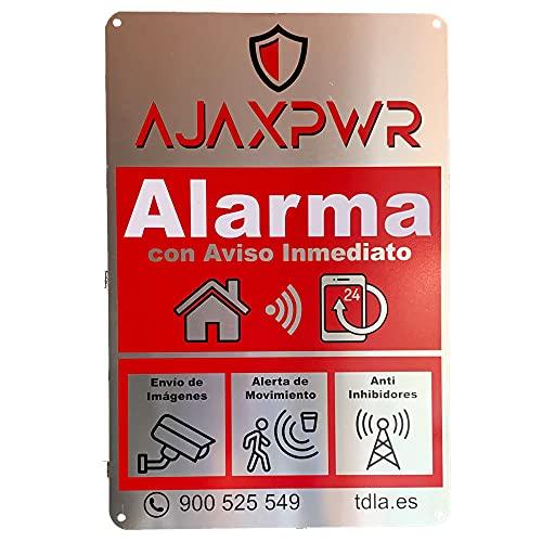 Cartel Alarma Disuasorio en Placa de Aluminio de 20x30cm