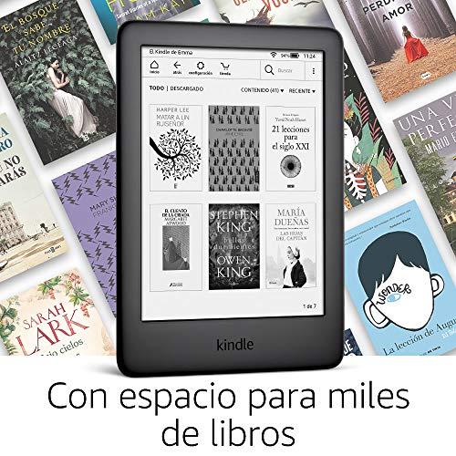 Kindle, ahora con luz frontal integrada, con ofertas especiales, negro miniatura