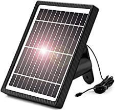 Solar Panel for Security Camera - Waterproof Solar Panel with 13ft Charging Cable Compatible with 5V DC Rechargeable Battery Powered Camera Continuously Power for Outdoor Security Cam Micro USB Port