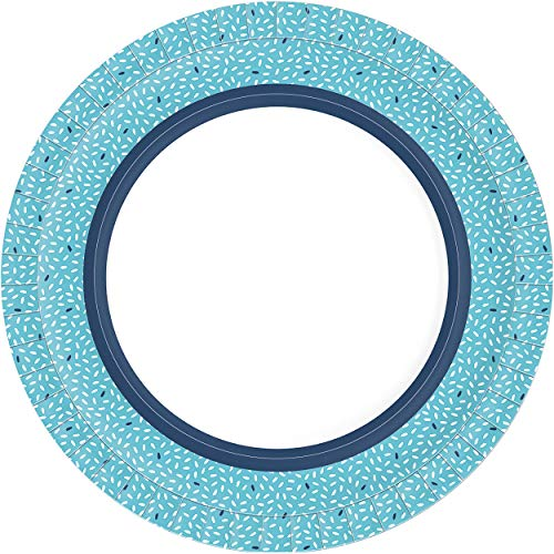 Duni 191826 Rice - Platos de papel (22 cm de diámetro, 10 unidades), color azul