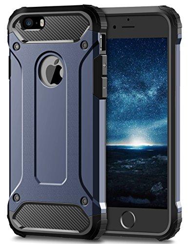 Coolden iPhone 6S Hülle, Premium [Armor Serie] iPhone 6 Outdoor Stoßfest Handyhülle Silikon TPU + PC Bumper Cover Doppelschichter Schutz Hülle für iPhone 6/6S (Blau)