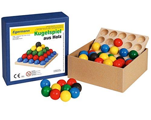 Unbekannt Egermann EH224/2 - Stapelspiel Kugelspiel Holzkugelspiel, Kleinkindspielzeug