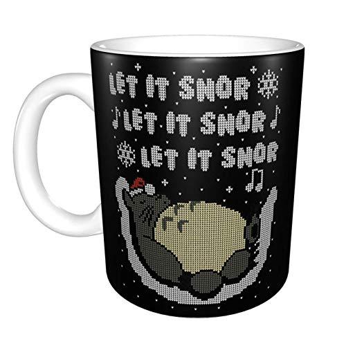 Neighbor to-t-oro Let It Snor - Taza de café de cerámica, diseño con texto 'Let It Snor'