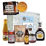 Geschenkbox 'So Grillt Die Welt' | Grillset BBQ Sauce BBQ Rub | Grill Geschenkset Grillen Für Männer | Grillzubehör Grill Geschenke Für Männer