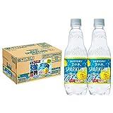 [訳あり(シール付)]【Amazon.co.jp 限定】サントリー 天然水スパークリングレモン 強炭酸超実感パック工場出荷後最短3日お届け 500ml×24本 7/23工場出荷分