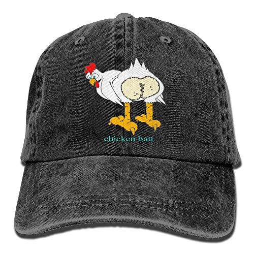 Guess What Chicken Butt Vintage Washed Dyed Cotton Twill Low Profile Adjustable Baseball Cap