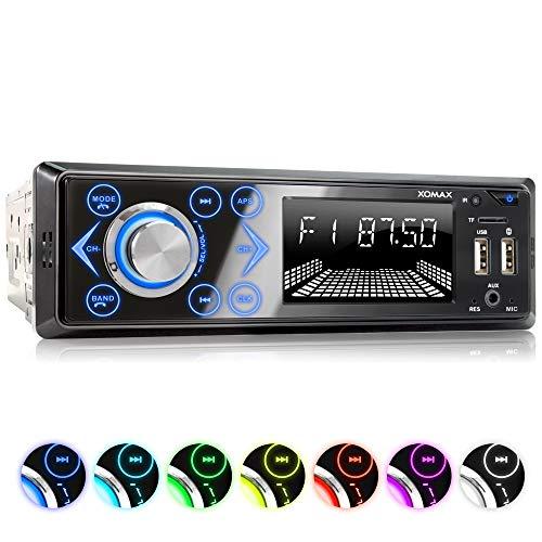 XOMAX XM-R272 Autoradio Radio de Coche con Bluetooth Manos