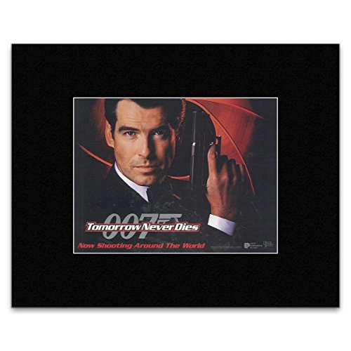 JAMES BOND - Morgen sterft nooit - Advance UK Quad 1997 Mini Poster - 14.9x19.4cm