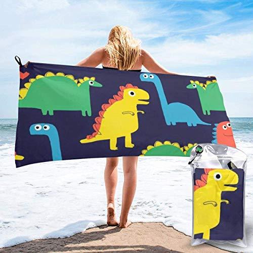 Ahdyr bath towel Dinosaur Microfiber Sand Free Beach Towel Blanket-Quick Fast Dry Super Absorbent Lightweight Thin Towel