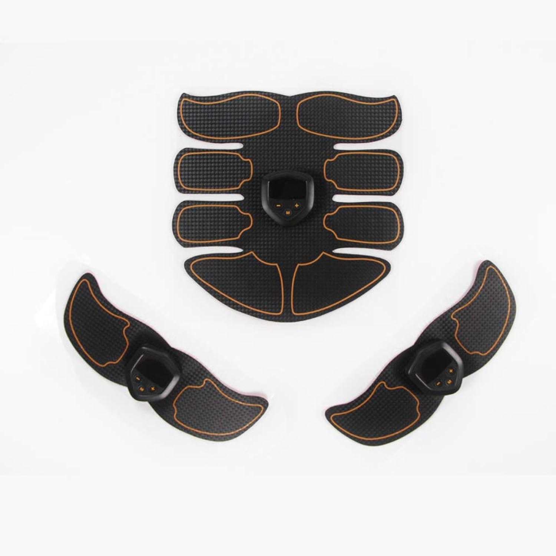 Neue USB Elektrische Fitnessgerte EMS Bauchmuskel Stimulator ABS Muskeltrainingsgert Für Mnner Und Frauen Bauchmuskeltraining Krpermassagegerte Sport Fitnessgerte,Beige