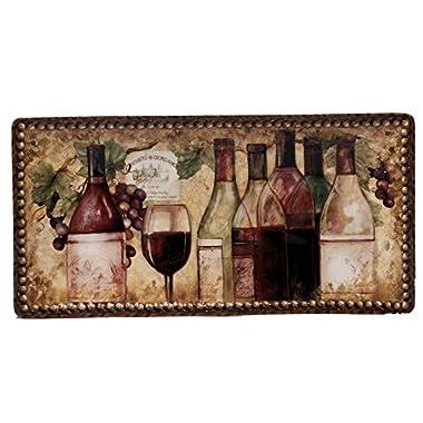 Certified International Gilded Wine Bread Tray, 14  x 7 , Multicolor