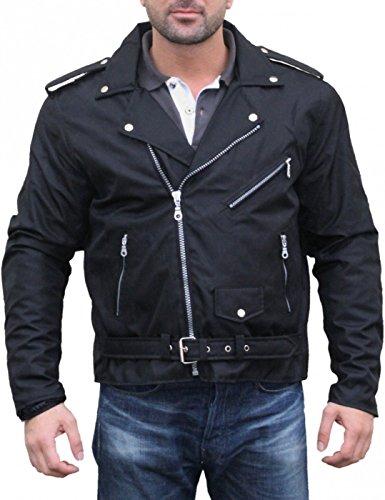 German Wear, Chopper Motorradjacke Rockabilly Rockerjacke Brando Motorrad Textilien Jacke, Größe:M