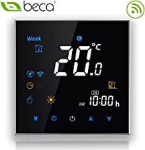 Konesky Thermostat Intelligent WiFi Thermostat programmable APP TUYA Contr/ôleur pour Eau de Chauffage /électrique Chaudi/ère Chauffage au Sol Travailler avec Alexa Accueil Google