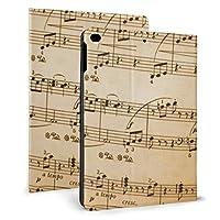 SORA 音楽は に注意します iPad Air 2 ケース iPad Air ケース 手帳型 オートスリープ機能付き iPad Air/iPad Air 2 保護カバー ペンホルダー付き 強化ガラス液晶保護フィルム付き