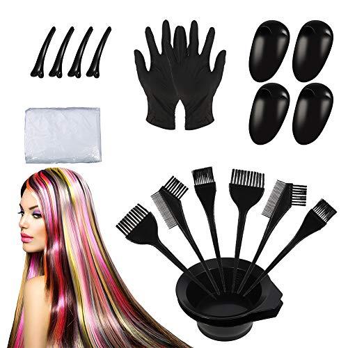 Angelikashalala Haarfärbepinsel und Schale, Einweg-Haarfärbe-Werkzeug-Set für Salon und Einzeln