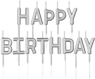 Grattis på födelsedagen stearinljus metalltårta ljus grattis på födelsedagen brev ljus kopp cupcake toppers för bröllop fö...