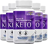 (5-Pack) The Official Brand Ultra Keto x Burn Keto, Burn Fat for Energy, Maintain Lean Muscle, BHB Salts + 800 MG Proprietary Blend
