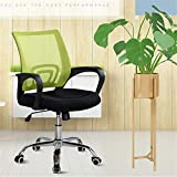 QuRRong Bürostuhl Home Office Chair Abhebbarer Konferenzstuhl Breathable Computer Stuhl Für Wohnzimmer Arbeitszimmer (Color : Green, Size : One Size)