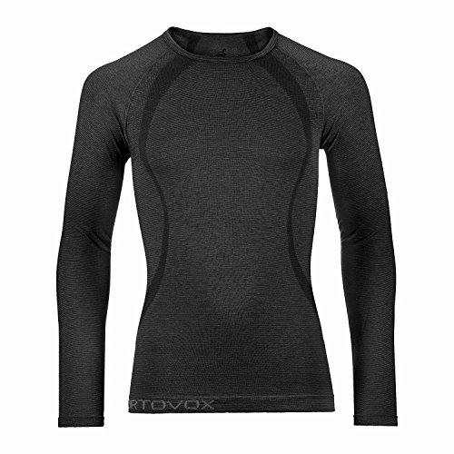 ORTOVOX Competition t-Shirt à Manches Longues pour Homme en Laine mérinos Cool M Noir - Noir Black Steel