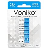 VONIKO Alkaline Battery 23A - Ultra 23A Batteries (6-Pack) - Long Lasting 12 Volt A23 Battery for Doorbells and Power Remote