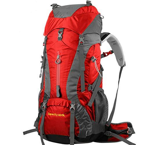 HUANGDANSEN Running Backpack 60L + 5L Professional Waterproof Backpack Internal Frame Mountain Climbing Camping Hiking Backpack