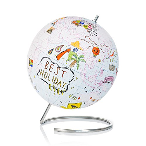 SUCK UK Small Globe Journal - Cuaderno de globo terráqueo