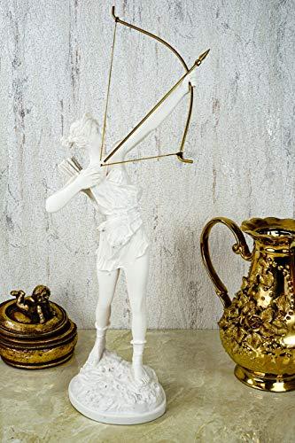 Kremers Schatzkiste Alabaster Artemis griechiche Göttin der Jagd Figur Skulptur 41 cm weiß Gottheit