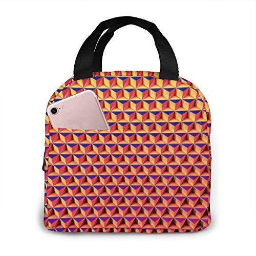 Bolsa de almuerzo térmica portátil con cierre de cremallera y diseño de cubo, reutilizable para adultos
