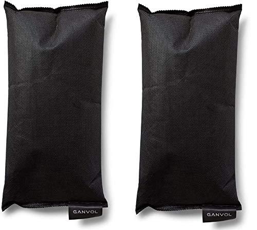 Ganvol Pack of 2 500g deshumidificador (Total 1kg) con 2 Esterilla Antideslizante,...