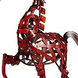 Tooarts Metall Geflochtenes Pferd Deko Skulptur Dekofigur Moderne Skulptur zum Dekorieren - 4