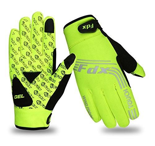 Guantes de dedos completos de ciclismo, resistentes al viento, aptos para pantallas...