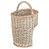 Hartleys Grey Wicker Stair Basket