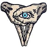 Parche termoadhesivo para la ropa, diseño de Signo de la mano del ojo en el corazón