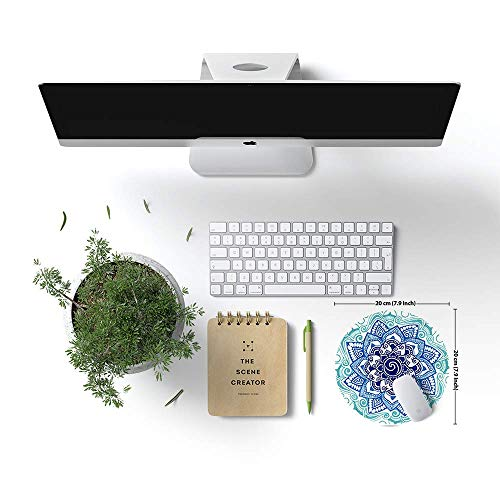 LESHIRY Mouse Pad, Cute Circular Mousepad with Design, Beautiful Parttern Mouse Pads with Stitched Edge, 7.9X7.9 Inch Small Mouse Mat for Laptop and Computer (Mandala 14) Photo #4