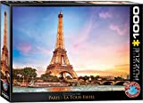 EuroGraphics- Paris Eiffel Tower Puzzle (1000-Piece) Rompecabezas (6000-0765)