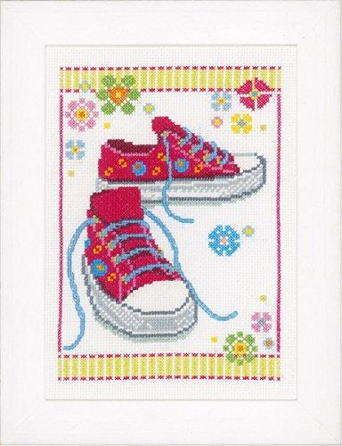 Vervaco PN-0149909 telpatroon verpakking Sneaker aida, roze