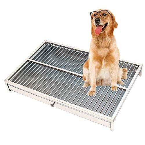 FHKL RVS Hond Toilet, Huisdier toilet vuilnisbak Urinale Training Potty lade - Geschikt voor grote en kleine honden (Xs-Xxl)
