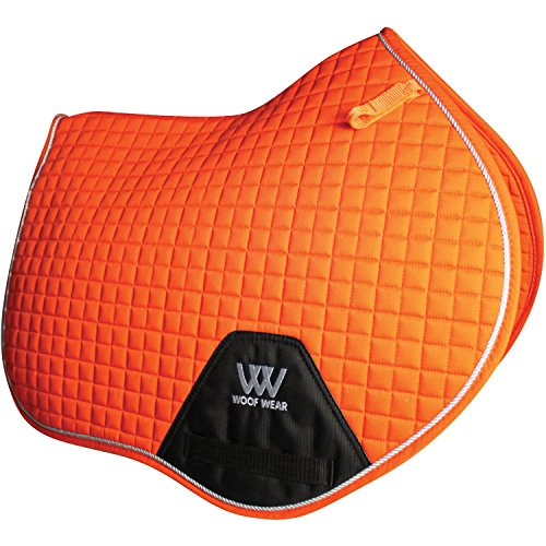 Woof Wear contacto cercano MANTILLA Alto CRUZ Tamaño Real Caballo Equino - Naranja