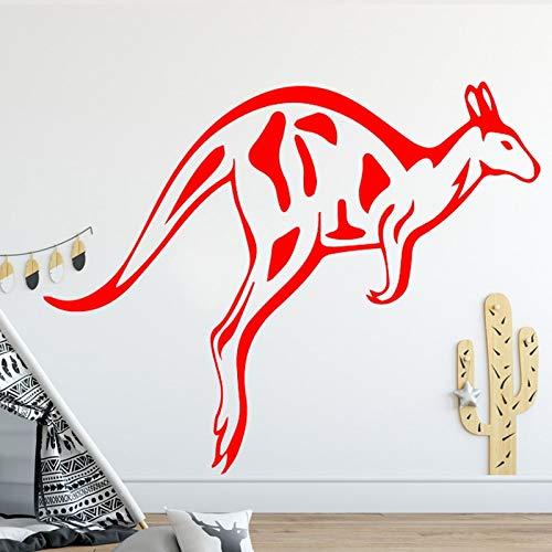 Wohnzimmer Hintergrund Accessoires Tier Känguru Muster Wandaufkleber kreatives Design Wandtattoo Vinyl Kunst Aufkleber Poster