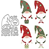 Christmas Santa Claus Metal Cutting Die Cuts, DIY Crafts Santa Paper Cards Cutting Dies Cut Stencils for DIY Embossing Card Making Book Tags Decorative Paper Dies Scrapbooking