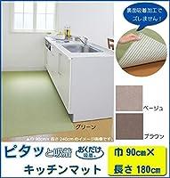 ◇生活日用品 雑貨◇キッチンマット 巾90×長さ180cm GR(グリーン)・KH-82