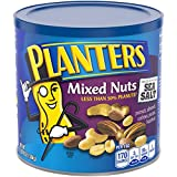 PLANTERS Mixed Nuts, 8 oz. Resealable Container | Roasted Nuts: Less Than 50% PeanutsNuts are Measured by Weight), Almonds, Cashews, Hazelnuts & Pecans | Kosher