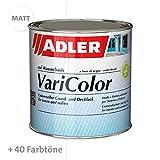 ADLER Varicolor 2en1 vernis coloré acrylique pour l'intérieur et l'extérieur - 375 ml Incolore, mat - Vernis et apprêt résistant aux intempéries pour le bois, le métal et le plastique