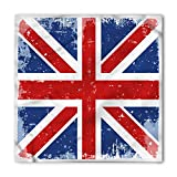 Lunarable Unisex Bandana, British Vintage England London Flag, Navy Blue