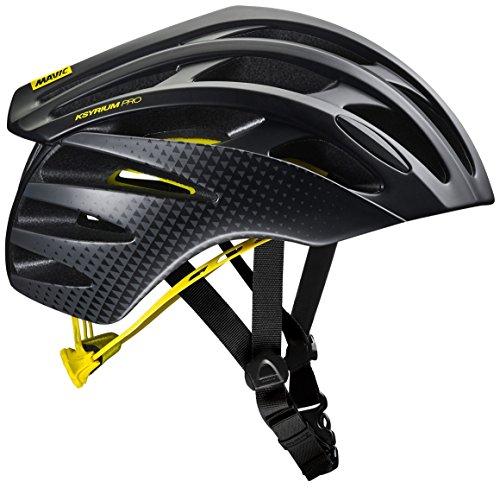MAVIC Ksyrium Pro MIPS Rennrad Fahrrad Helm schwarz/gelb 2018: Größe: L (57-61cm)