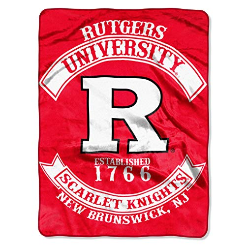 Rutgers Scarlet Knights NCAA Triple Woven Jacquard Throw (019 Focus) (48x60 )