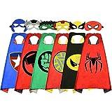 BELVITA Superhelden-Umhang für Kinder, doppelseitiger Satin-Umhang und Maske für Kostüme Gr....